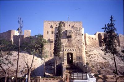 Aleppo_citadel_entrance